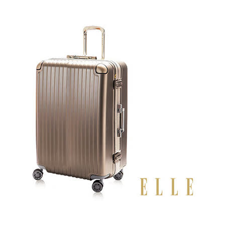 ELLE ABS霧面24吋深框鋁合金裸鑽第6代系列精湛耀眼-金