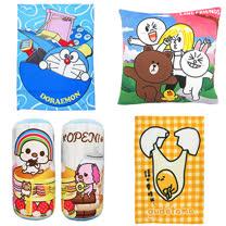 【享夢城堡】卡通童趣萬用毯+抱枕/枕套寢具週邊(超值組合)