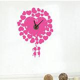創意趣味DIY  壁貼掛鐘 (情侶愛心)