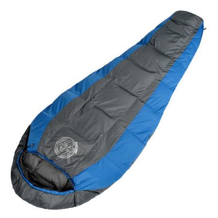LIFECODE《極光1號》秋冬保暖白鴨羽絨睡袋1200g (藍色)