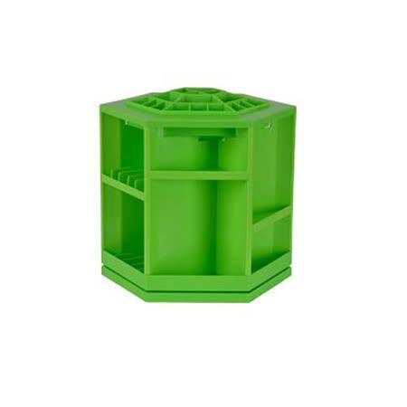 韓版360度旋轉化妝品大容量收納架(綠色)
