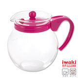 【iwaki】耐熱玻璃茶壺640ml(粉)