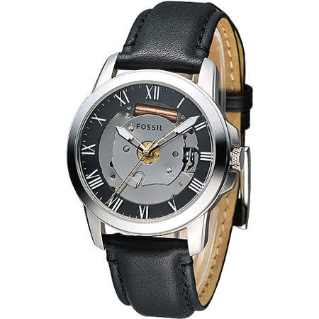 FOSSIL 科技菁英羅馬風時尚腕錶-黑(FS4869)