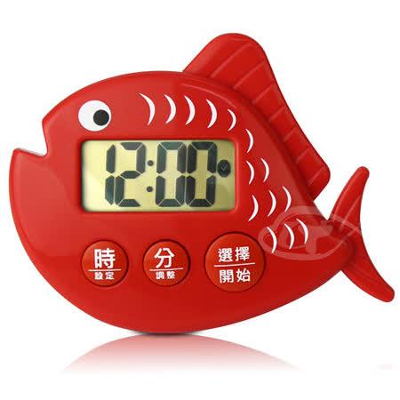 【CATIGA】歡樂果漾-大字幕電子計時器-鮭魚紅
