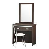 Bernice - 北歐耐磨2.7尺鏡台化妝桌椅組(三色可選)