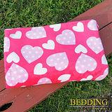 【BEDDING】 包邊款式 法蘭絨增溫保暖萬用毛毯 心心相印