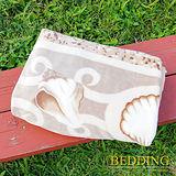 【BEDDING】 包邊款式 法蘭絨增溫保暖萬用毛毯 豔陽沙灘
