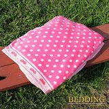 【BEDDING】 包邊款式 法蘭絨增溫保暖萬用毛毯 草莓特調