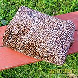 【BEDDING】 包邊款式 法蘭絨增溫保暖萬用毛毯 潮流豹紋