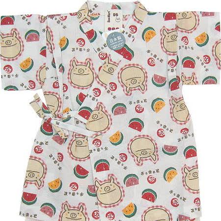 【波克貓哈日網】日本和服浴衣睡衣◇西瓜小豬圖案◇《95cm》上衣+短褲