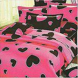 名流寢飾 精梳棉兩用被床包組-甜蜜心跳 雙人特大6*7尺