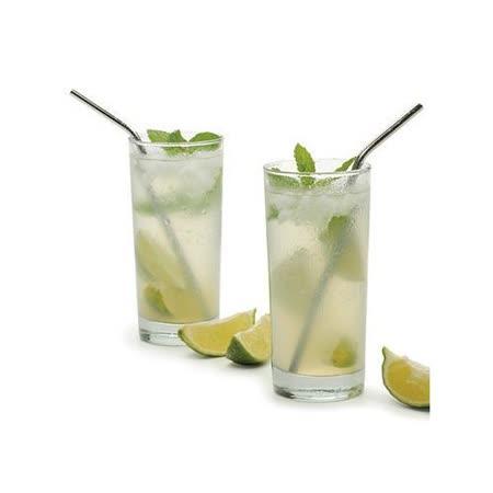 【PS Mall】不銹鋼彎曲吸管 酒吧果汁飲料攪拌棒_2入(J288)
