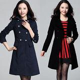 【麗質達人中大碼】3606雙排釦長大衣(XL-4XL)