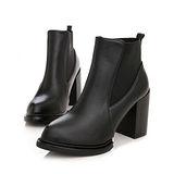 《JOYCE》素面纖腿百搭高跟短靴(訂製)