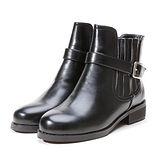 《JOYCE》顯廋側皮帶側扣騎士短靴(訂製)