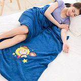 奶油獅 星星牛珊瑚絨保暖毯 湛藍
