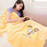 奶油獅 星星牛仔珊瑚絨保暖毯 暖黃
