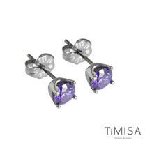 【TiMISA】純鈦簡愛(S)-神秘紫 純鈦耳針一對