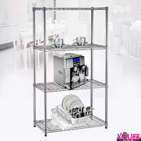 【YO-Life】輕型四層電鍍鐵力士架60x30x120cm