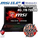 msi微星 GE60 2PE 15.6吋 i5-4210H GTX860M GDDR5 2GB獨顯 Win 8.1 專業電競筆電