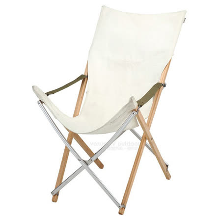 日本 Snow Peak 熱賣款 Take!竹材摺椅-加高款米色_LV-081R