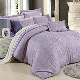 【Betrise】加大絲棉緹花八件式鋪棉兩用被床罩組(王者至尊)