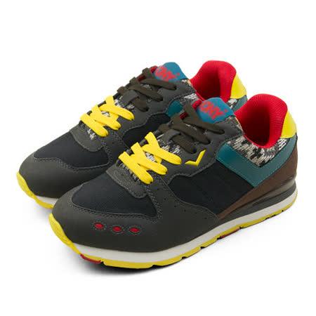 【PONY】女 繽紛韓風復古慢跑鞋 SOLA-V2  黑灰紅 44W1SO86BK