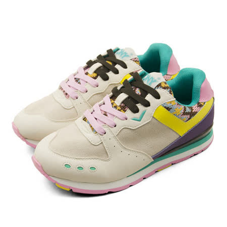 【PONY】女 繽紛韓風復古慢跑鞋 SOLA-V2  棕綠紫 44W1SO86OW