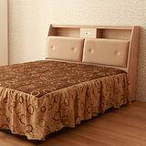 【LOHA】幸褔家居5尺雙人床頭箱+床底(共四色)