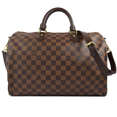 【開箱心得分享】gohappy線上購物Louis Vuitton LV N41366 N41182 Speedy 35 棋盤格紋附背帶手提包_現貨評價好嗎新竹 巨 城