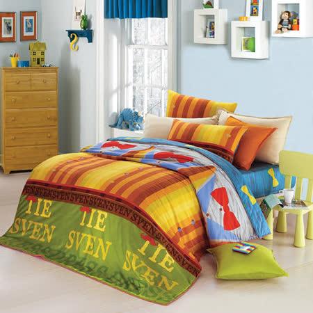 GOLDEN-TIME-衣櫃派對-純棉-加大四件式兩用被床包組