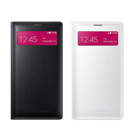 SAMSUNG 三星 NOTE4 S-View 原廠 插卡式透視感應皮套(有吊卡) 贈保護貼