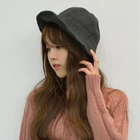 【PS Mall】韓版漁夫帽 純色秋冬帽子 巫女帽子甜美遮陽帽子 (G1706)