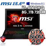 MSI 微星 GE60 2PF i7-4710HQ GTX860M 2G獨顯 15.6吋Win8.1遊戲機筆電