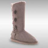 Bee Hugs 100%澳洲羊皮羊毛 氣質出眾低調奢華感 精緻手工縫製高筒雪靴 ~ 質感灰