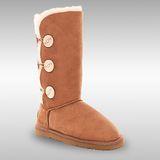 Bee Hugs 100%澳洲羊皮羊毛 氣質出眾低調奢華感 手工縫製高筒雪靴 ~ 優雅栗
