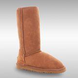 Bee Hugs 100%澳洲羊皮羊毛 加強全身比例手工縫製高筒雪靴~ 優雅栗