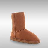 Bee Hugs 100%澳洲羊皮羊毛 精緻手工縫製中筒雪靴 舒適搭配度高 ~ 優雅栗