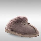 Bee Hugs 100%澳洲羊皮羊毛 高質感舒適休閒 手工縫製純羊毛拖鞋~ 質感灰