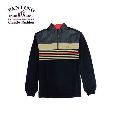 【FANTINO】男裝 精緻繡花舒適polo衫(綠.桔) 241301-241302