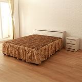 【LOHA】品味生活5尺雙人床組四件式-床箱+床底+邊櫃+床墊(共四色)