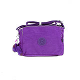 【Kipling】BASIC系列 雙層帥氣斜背包 奢華紫 K-374-2969-643