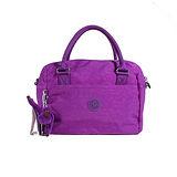 【Kipling】BASIC系列 細提把手提兩用波士頓包 奢華紫 K-374-2437-643