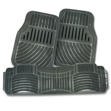 【YARK】 通用型3片式車用踏墊 (全車份) 煙灰