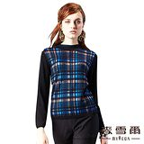 【麥雪爾】色格紋套頭針織上衣-共二色