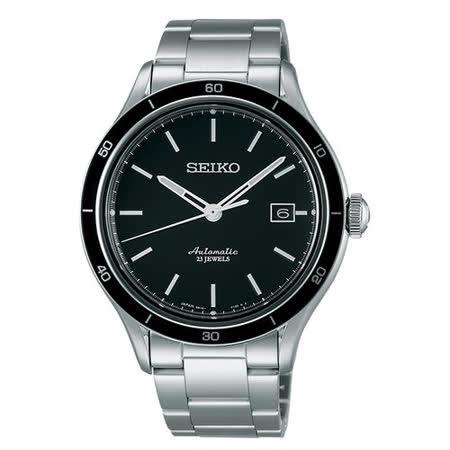 SEIKO 精工5號 6R15專業機械錶(黑/41mm) 6R15-02V0D
