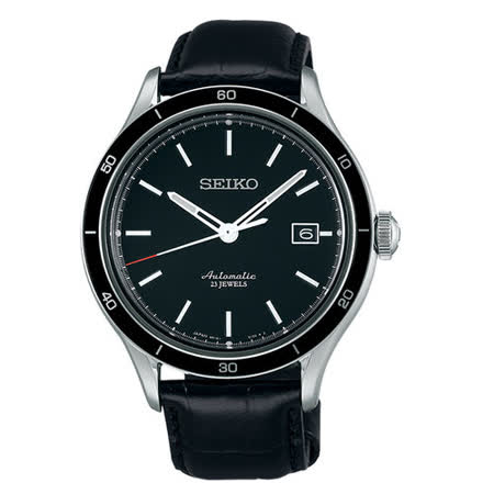 SEIKO 精工5號 6R15專業機械錶(黑/41mm) 6R15-02V0A