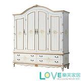【LOVE樂芙】伊麗莎白-6.3尺四門衣櫥