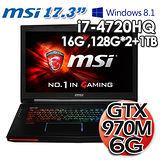 MSI 微星 GT72 2QD 四代I7 17.3吋 6G獨顯 Win8.1電競筆電(精裝版)