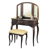 Asllie拱型化妝桌椅組